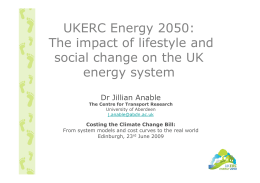 UKERC Energy 2050: The impact of lifestyle and energy system