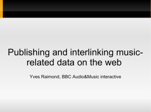 Publishing and interlinking music- related data on the web