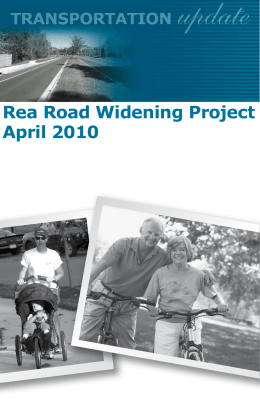 Rea Road Widening Project April 2010