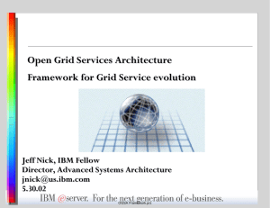 Open Grid Services Architecture Framework for Grid Service evolution