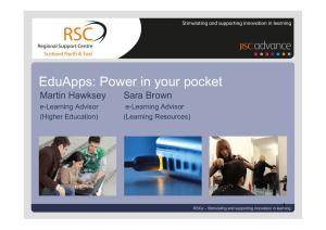 Learner Survey EduApps: Power in your pocket Views on service delivery Martin Hawksey