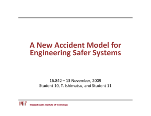 A New Accident Model for Engineering Safer Systems