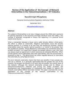 Review of the Application of  the Concept  of... Externalities in the Telecommunications / ICT Industry