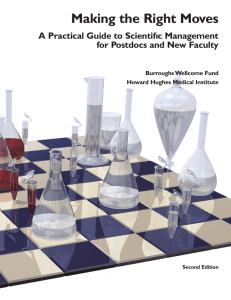 Making the Right Moves A Practical Guide to Scientifıc Management