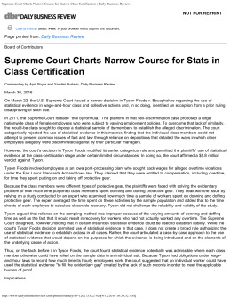 Supreme Court Charts Narrow Course for Stats in Class Certification