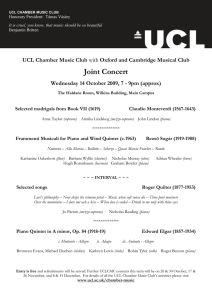 Joint Concert  UCL Chamber Music Club