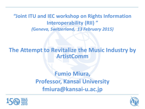 The Attempt to Revitalize the Music Industry by ArtistComm Fumio Miura,