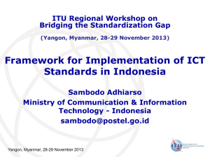 Framework for Implementation of ICT Standards in Indonesia