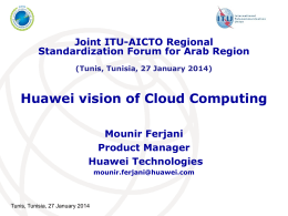 Huawei vision of Cloud Computing