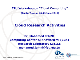 Cloud Research Activities