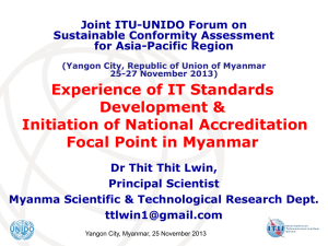 Experience of IT Standards Development & Initiation of National Accreditation