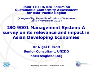 ISO 9001 Management System: A Asian Developing Economies