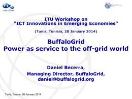 BuffaloGrid Power as service to the off-grid world