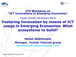 Fostering Innovation by means of ICT usage in Emerging Economies: What