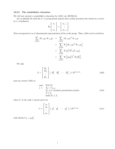 10.3.2 The semidefinite relaxation
