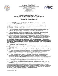 State of New Jersey  CONSISTENCY DETERMINATION FOR WATER QUALITY MANAGEMENT PLAN AMENDMENTS