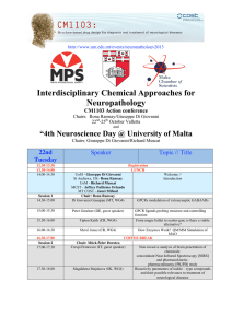 "Interdisciplinary Chemical Approaches for Neuropathology ""4th Neuroscience Day @ University of Malta"