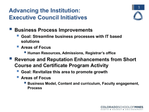  Advancing the Institution: Executive Council Initiatives