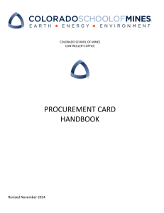 PROCUREMENT CARD HANDBOOK Revised November 2014
