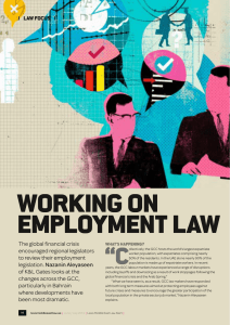 "WOrking On empLOyment LAW ""C LAW FOCUS"