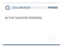 ACTIVE SHOOTER RESPONSE 1. Emergency Management Plan