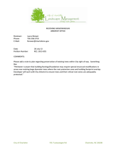REZONING MEMORANDUM ARBORIST OFFICE Reviewer: