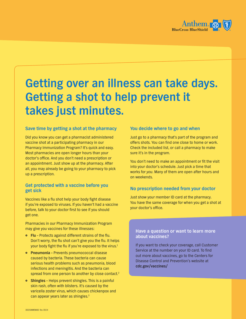 Getting over an illness can take days  takes just minutes