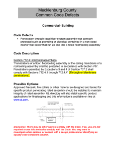 Mecklenburg County Common Code Defects  Commercial- Building