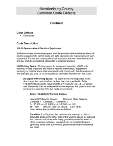 Mecklenburg County Common Code Defects Electrical Code Defects