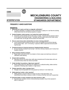 MECKLENBURG COUNTY ENGINEERING & BUILDING STANDARDS DEPARTMENT