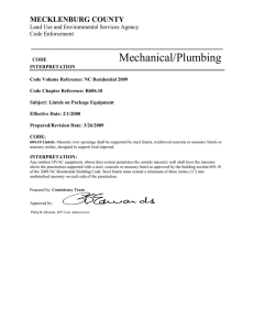 Mechanical/Plumbing MECKLENBURG COUNTY ______________________________________________________________________________ Land Use and Environmental Services Agency