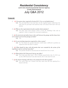 July Q&A 2012 Residential Consistency General: Land Use and Environmental Service Agency