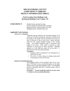 MECKLENBURG COUNTY CODE DEFECT LIBRARY DEFECT INFORMATION SHEET North Carolina State Building Code