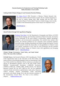 Keynote Speakers for Symposium and Training Workshop Leads: