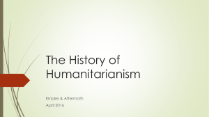 The History of Humanitarianism Empire & Aftermath April 2016