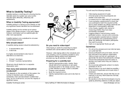 Usability Testing What is Usability Testing?