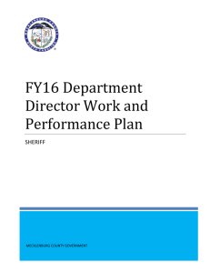 FY16 Department Director Work and Performance Plan