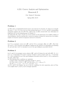 3 6.253:  Convex Analysis and Optimization Homework Problem  1