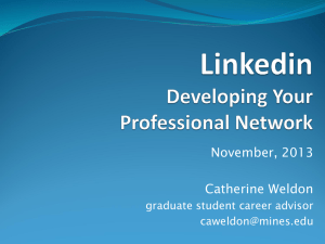 November, 2013 Catherine Weldon graduate student career advisor
