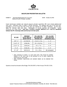 CHARLOTTE  BACKFLOW PREVENTION BULLETIN