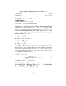 MASSACHUSETTS INSTITUTE OF TECHNOLOGY 6.436J/15.085J Fall 2008 Problem Set 8