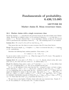 Fundamentals  of  probability. 6.436/15.085 24 LECTURE