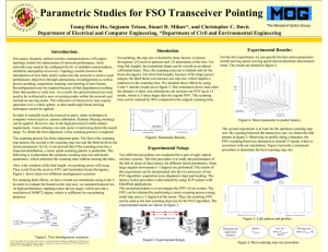 Parametric Studies for FSO Transceiver Pointing