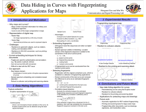 Data Hiding in Curves with Fingerprinting Applications for Maps