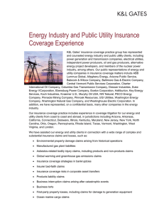 Energy Industry and Public Utility Insurance Coverage Experience