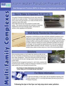 s xe Storm Water Pollution Prevention
