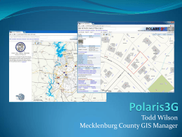 Todd Wilson Mecklenburg County GIS Manager