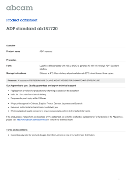 ADP standard ab181720 Product datasheet Overview Product name