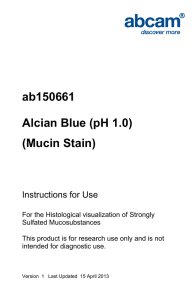 ab150661 Alcian Blue (pH 1.0) (Mucin Stain) Instructions for Use