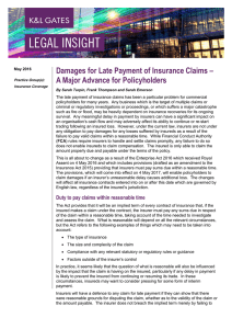 Damages for Late Payment of Insurance Claims –